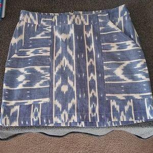 Mata traders Chevron 100% cotton skirt